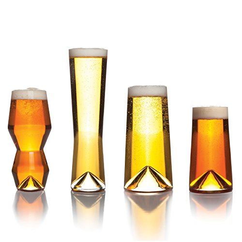 Sempli Monti-Taste - Set di 4 bicchieri da birra in confezione regalo