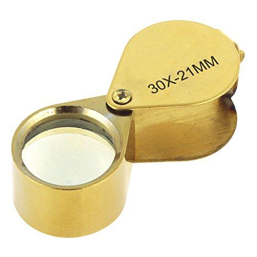 Schmucklupe,Vergrößerungsglas für Juweliere 30fach mit 21-mm-Glas,Zusammenklappbares Wissenschaftliches Dokumenten-Vergrößerungsglas, Schmuck Diamanten Münzsammlung Briefmarkensammeln