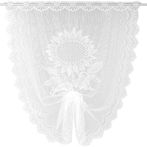 Arsvita Schwalbenschwanz Bistrogardine in weiß (BxL) 100 x 160 cm - Design: Sonnenblumen