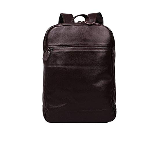 Bag Two Main Zipper Compartment Leather Backpack Very Big Capacity Fashion Trend Travel Bag (Color : Red wine, Size : S)