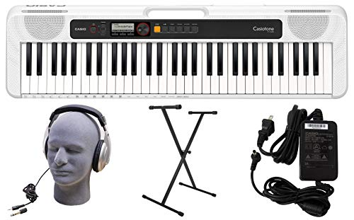 Casio CT-S200WE 61-Key Premium Keyboard Pack with Stand, Headphones & Power Supply, White (CAS CTS200WE PPK)