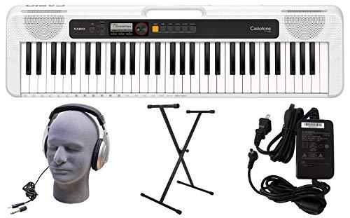 Casio CT-S200WE - Juego de teclado premium de 61 teclas con soporte, auriculares y fuente de alimentación, color blanco (CAS CTS200WE PPK)