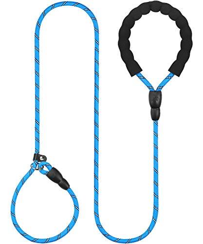 Taglory Hundefreund Retrieverleine,Hundeleine Leine Runden Reflektierend vom Nylonseil,Hundeleine ziehen,Geeignet für kleine mittelgroße Hunde,Blau