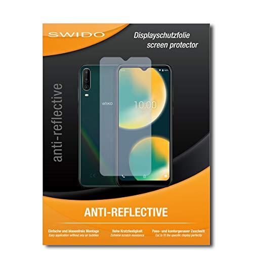 SWIDO Schutzfolie für Wiko View 4 [2 Stück] Anti-Reflex MATT Entspiegelnd, Hoher Festigkeitgrad, Schutz vor Kratzer/Folie, Bildschirmschutz, Bildschirmschutzfolie, Panzerglas-Folie