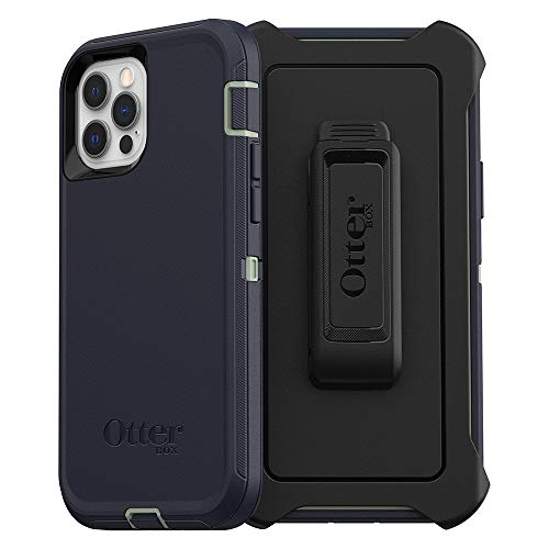 OtterBox Defender Series SCREENLESS Edition Case for iPhone 12 & iPhone 12 Pro - Varsity Blues (Desert Sage/Dress Blues)