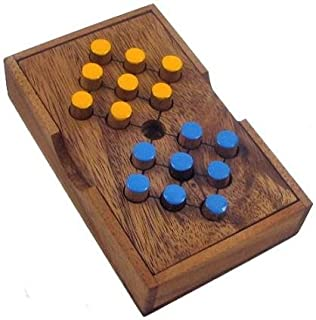 Winshare Puzzles and Games Switch Eight Wooden Brain Teaser Puzzle