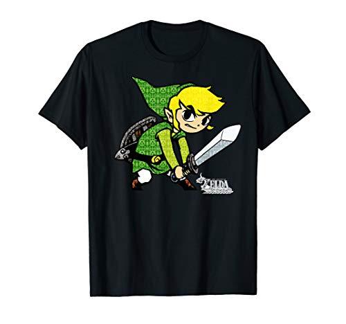 Zelda The Wind Waker Link Symbol Fill T-Shirt