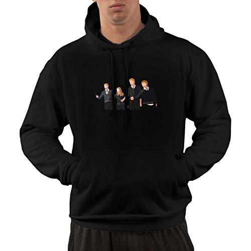 Ge-Org-E Gin-Ny Ron We-As-Ley Herren Langarm Baumwolle Active Hoodies Sweatshirt Gr. XXL, Schwarz
