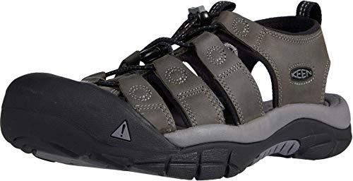 KEEN Men's Newport Closed Toe Water Sandal, Steel Grey/Steel Grey, 11