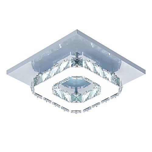 Lámpara de techo de cristal Lámparas de techo Espejo de ac