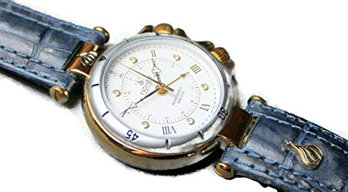 POLJOT International Armband-Wecker Weckuhr Mechanische Russische Uhr Blau