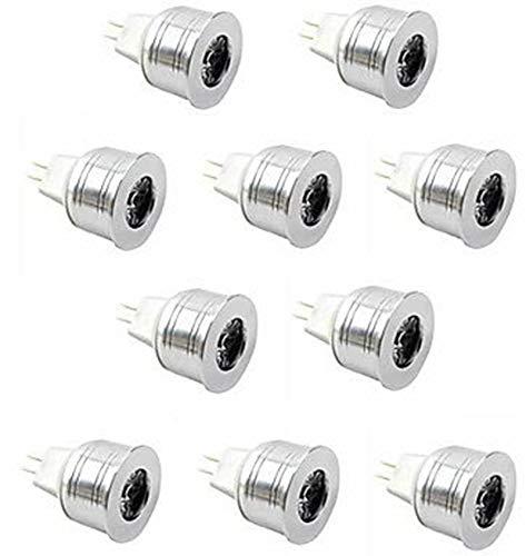 WELSUN Spot LED MR11 GU5.3 3 W 1 LED 350 LM Blanc Chaud / Blanc Froid Haute Puissance Décorative DC 12 V 10 pièces ( Dimmable Option : Non-dimmable , Light Source Color : Warm White )