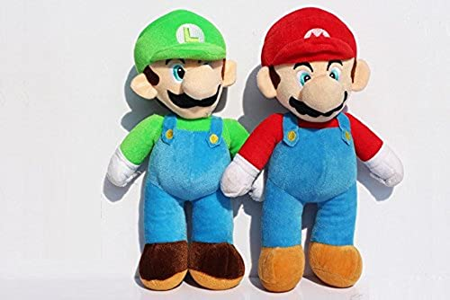 Super Mario Bros. Stand Mario & Luigi Plush Doll Stuffed Toy 10  And (1 Lot 2 Pieces) by Great Shop Deals