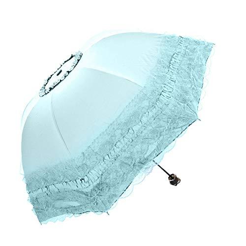 OPIUYS Damen Faltschirm Sonnenschirm, Anti-Ultraviolett Sonnenschirm zum Mitnehmen im Freien