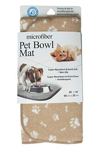 Microfiber Non-Slip Pet Bowl Mat, 20 x 10 Inches, 1 Pack