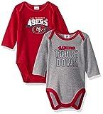 NFL San Francisco 49ers Boys 2 Pack Long Sleeve BODYSUIT, Team Color, 3-6M