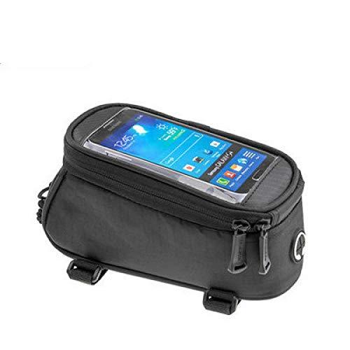 Bolsa de bicicleta de montaña para teléfono móvil, tubo superior, bolsa de...