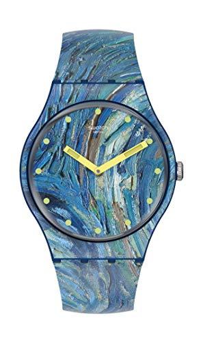 Swatch The Starry Night von Vincent Van Gogh, blau