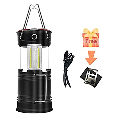OZS 1PK Camping Lantern Rechargeable, Upgraded Super Bright Camping Lights, 4 Modes Collapsible Lanterns with Magnet Base, Suitable for Survival Kits for Hurricane, Emergency Light, Storm, Outages