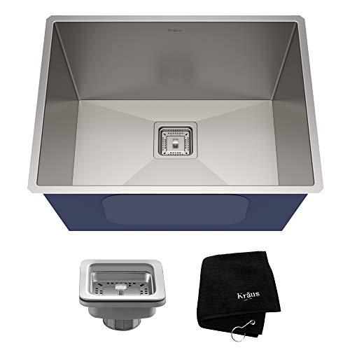 KRAUS Pax 24-inch Stainless Steel Laundry and Utility Sink