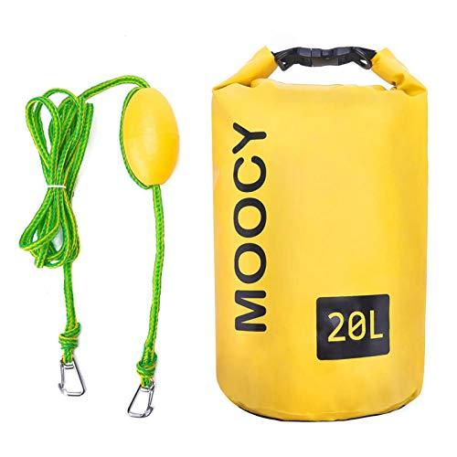 Cirdora Mochila impermeable impermeable para natación, bolsa de playa, saco de secado ligero para playa, canotaje, pesca, kayak, natación, rafting, camping, 10 l, 20 l