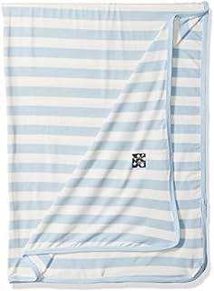 KicKee Pants Print Swaddling Blanket (One Size, Pond Stripe)