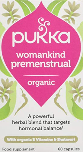 Pukka Herbs Premenstrual Tranquility, Organic Herbal Supplement, Shatavari, Turmeric & Reishi| Natural support for premenstrual balance, Daily support to stay cool & calm (60 x capsules) 5060519144027