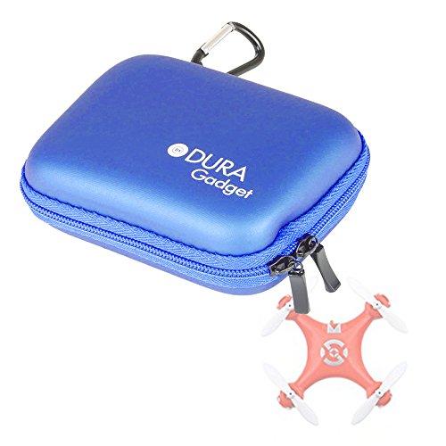 DURAGADGET Coque étui Rigide Bleu pour Mini Drone Foxnovo Lishitoys L6036, Lily Caméra (pour l'émetteur GPS), XT-XINTE FQ777-124 et UDI U839
