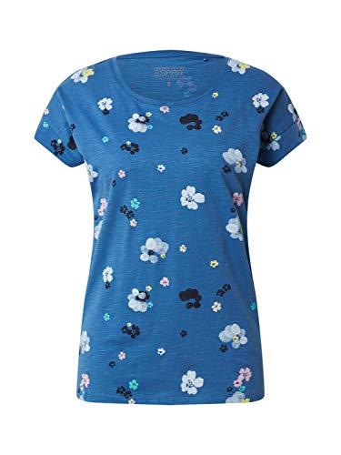 Esprit Damen 990EE1K307 T-Shirt, 410/BRIGHT Blue, L