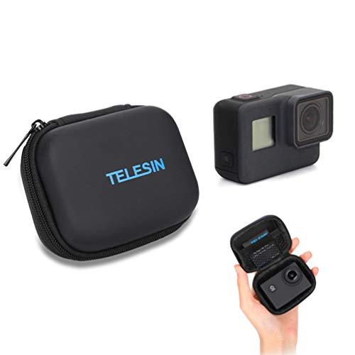 Sjpzwcrl para GoPro Bolso, Protectora Mini Estuche de Almacenamiento para GoPro Hero 8 7 6 5 4 3 2018 Sesión Portátil Viaje Impermeable PU Cuero Bolsa Negro para GoPro Accesorios