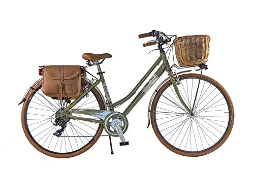 Bike City Bike CTB Citybike Vintage Bycicle Aluminium Retro Dolce Vita Woman Lady (Green Olive, 46)