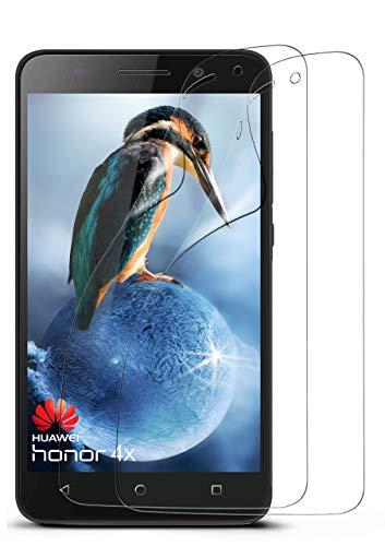 2x Huawei Honor 4X   Schutzfolie Klar Display Schutz [Crystal-Clear] Screen Protector Bildschirm Handy-Folie Dünn Displayschutz-Folie für Honor 4X Displayfolie