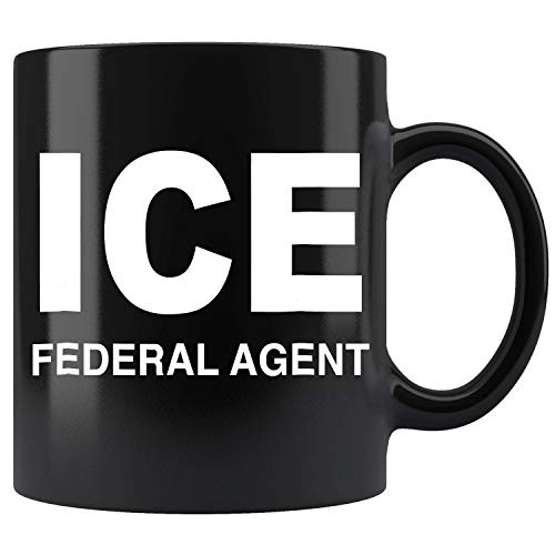 ICE Federal Agent Halloween Costume Police Immigration Ceramic Coffee Mug Tea Cup