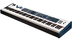 88-key digital stage piano with weighted hammer action Triple contact Ivory and Ebony keys with after touch 9 motorized draw-faders Organ/Mixer/MIDI ctrl/EQ Legendary high-quality acoustic and electric pianos Damper pedal, power supply, and music sta...