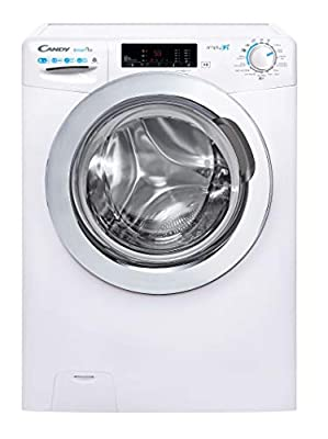Candy Freestanding Smart Pro CSOW4853TWCE Free Standing Washing Machine, WiFi Connected, 8 kg/5 kg Load, 1400 rpm