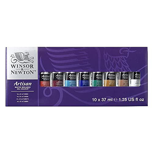 Winsor & Newton Artisan Water Mixable Oil Colour, 10 Count (Pack of 1), Assorted, 12 Fl Oz