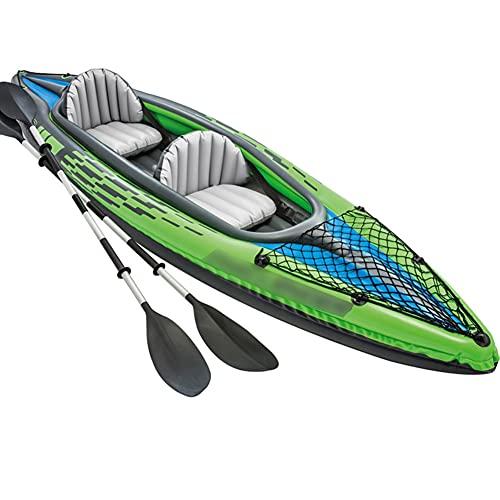 Priority Culture Kayak Hinchable Apto para 3 Personas Canoa para Mar con Bomba De Mano Piragua Inflable Adecuado para Juegos Costeros Y Pesca. (Color : Green, Size : 351 * 76cm)