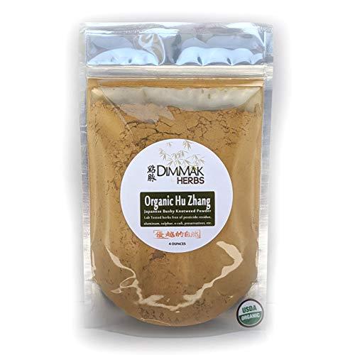 Organic Japanese Bushy Knotweed Powder 4oz | Hu Zhang Fen Chinese Herb Powder | Polygonum Cuspidatum Organic Lab Tested Powder