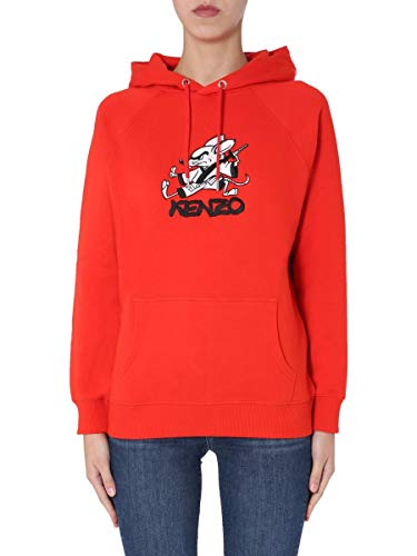 Kenzo Luxury Fashion Woman FA52SW7754Z521 - Sudadera de algodón para mujer, color rojo rojo 38