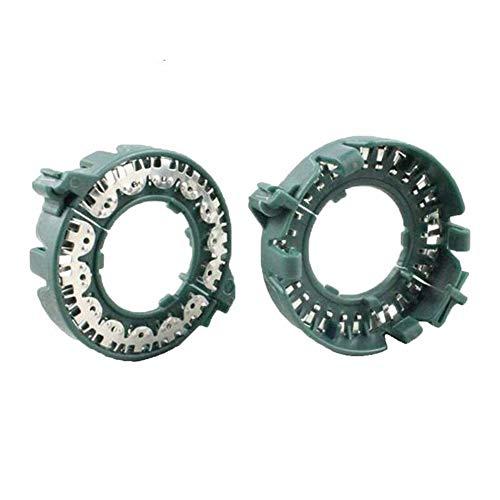 Adapter, HID Glühbirne D1S D2S Halterbasis Ringe Metall-Lock Halter Clips Adapter for BMW Projektoren Scheinwerfer Refit Für Autos (Color : Green)