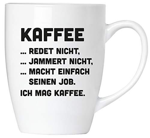BRUBAKER - Kaffee jammert nicht! - Kaffeetasse aus Keramik - 300 ml - Kaffeebecher