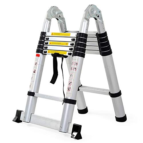 BLWX LY-Step kruk Telescopische ladder - Multi-functie vouwen huishoudelijke hardware visgraat engineering dual-purpose contractie telescopische ladder - 3 modellen
