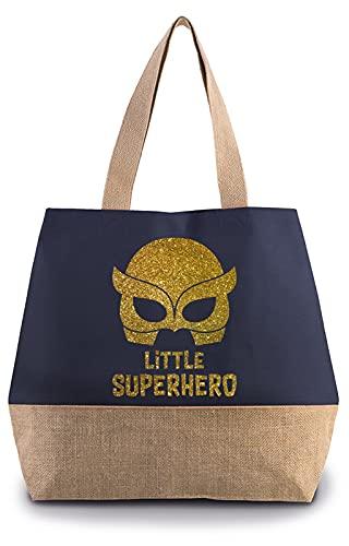 Hippowarehouse Little superhero - Glitter Premium reusable eco friendly...