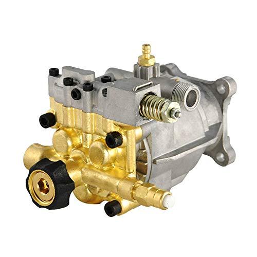 SurmountWay Pressure Washer Pump 2.5 GPM 3400 PSI Pump 3/4' Shaft Replacement Power Washer Pump 6.5 GPM HP Engine Brass Head Replacement Pump(Brass Horizontal )