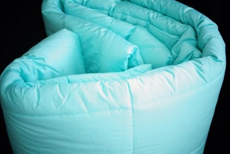 Dreamz Parure de lit Super Doux 500Fils 100% Coton 1Housse de Couette (100g m2 Fibre Fill) Euro Extra Petite Unique, Aqua Bleu Solide Coton égypcravaten Scala Doudou