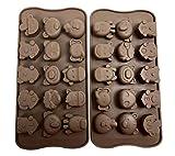 Non-Stick-Süßigkeit-Gelee-Formen, Schokoladen-Formen, Seifen-Formen, Silikon-Backformen - Wald...