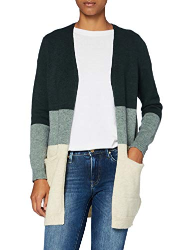 Only ONLQUEEN L/S Long Cardigan KNT Noos Chaqueta Punto, June Bug, L para Mujer