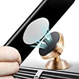 Magnetic Phone Car Mount, [Super Strong Magnet ] 2 Metal Plate Universal dashboard Stand 360° Rotation GPS Car Phone Holder Compatible with Apple for iPhone, for Samsung LG,Mini Tablet all Cell Phones