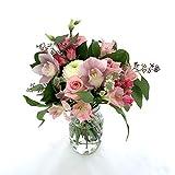Rachel Cho Floral Design - Pink Baby - Fresh Cut Flower Bouquet - Fresh Flowers - Floral Arrangement - Flower Bouquet - Approx. 4 lbs. 15' x 9' - with Vase