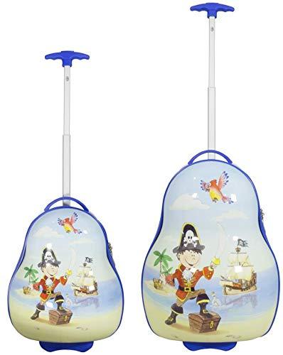 Monopol Children's Suitcase Set 2-Piece Pirate Sizes: 54 cm / 41 cm, Outer Material 100% Polycarbonate (933936857)